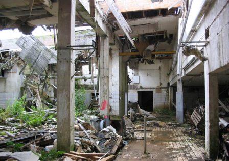 Entsorgungskonzept: Gebäude vor Entkernung