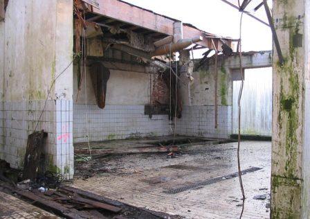Entsorgungskonzept: Gebäude während Entkernung