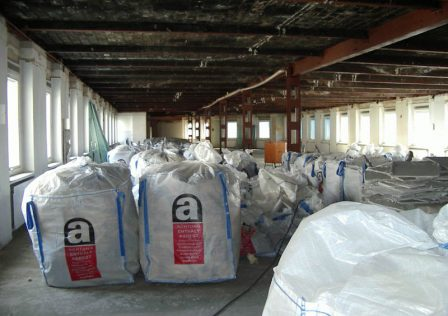 Verpackter Asbest